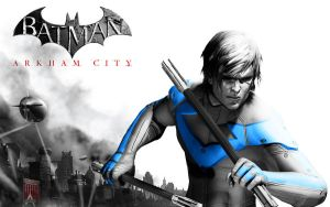 Nightwing - Arkham City by xcursedgravex