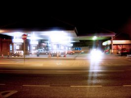Gas Station by michaelpolom