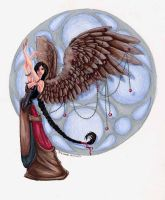 january birthstone angel by JessicaMDouglas