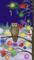 Owl of a Season - Xmas by Oksana007