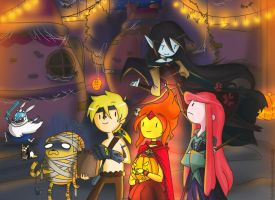 AT It' s Halloween Time!(Finn and Jake version) by TiaBlackRaven
