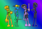 Rubber Four Colored by Shennanigma