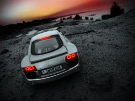 Audi R8 on the sand island by 5-G