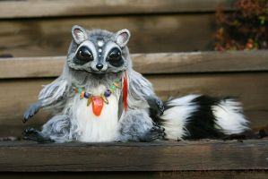 Bruce the Raccoon guardian doll by BeastVoodoo