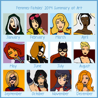 My 2014 Art Summary by Femmes-Fatales