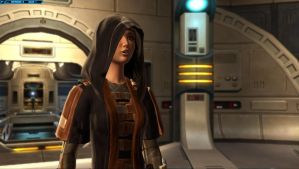 SWTOR Screenshot Holo-Talk In My Ship by TheFlyingHeart
