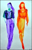 Fashion illustration XIII. by Ennete