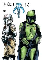 Mandalorian couple by burningdreams76