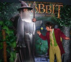 Bilbo Baggins/The Hobbit and his ring by CaptJackSparrow123