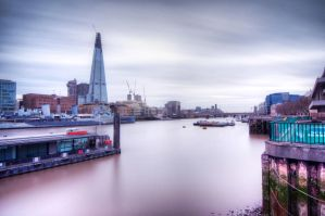 The Shard and The Thames River by dynamick