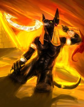 He Brought the Sun-Anubis by marourin