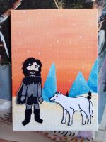 Jon Snow and Ghost by BrokenBlade13