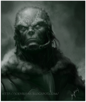 grungy dude WIP by joverine