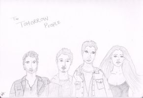 The Tomorrow People Main Characters Sketch by dwarvenbarbarianrage