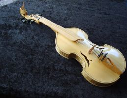 Viola D'amore Unciorn finished for Nelleke by deviantviolins
