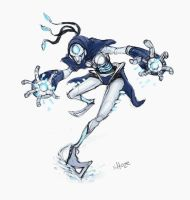 daily hero 16 - robotic ice mage by shoze