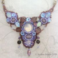 Amethyst Garden Necklace by Beadmask