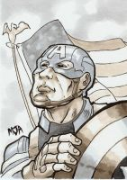 Captain America Sketch Card by Bleagh