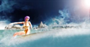 Surfs up Ayane by EvilkaiUnlimited