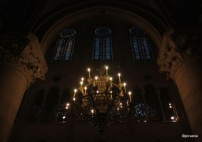 Light in Notre Dame, Paris by Jenvanw