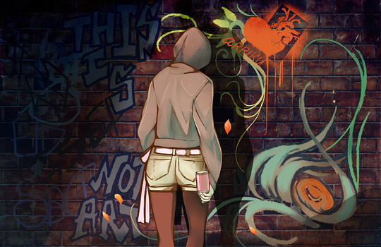 graffiti by arriku