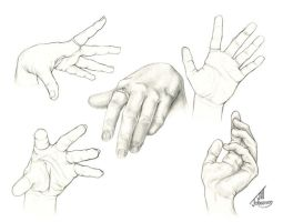 Hand Studies by Bamfette