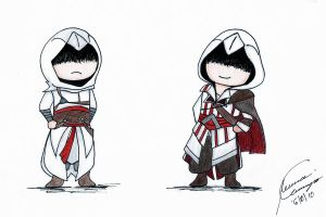CHIBI Altair and Ezio by teriani16