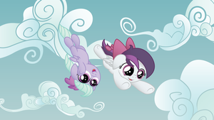 Gale Force and Flitter by drawponies