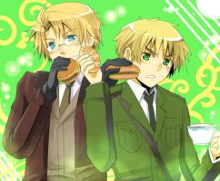Hetalia- Scone VS Burger by meru-chan
