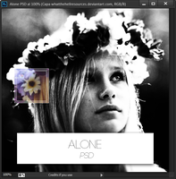 Alone | PSD | 2 psds by WhatTheHellResources