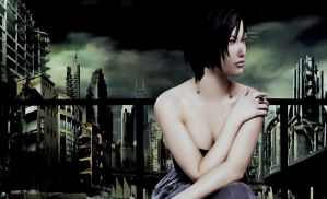 Beauty and Destroyed City by Ada-hime