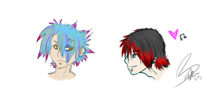 Adrian and Ren Headshots by takara915