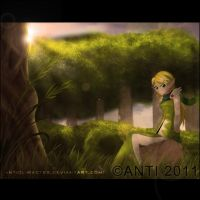 Elf In Woods by AntiClimacter