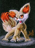 6th Gen Rising - Fennekin fire starter by FuzzyAcornIndustries