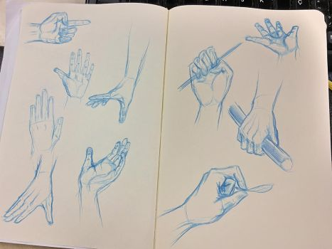 Studying hands by Cris-Nicola