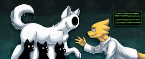 Alphys and Endogeny (Undertale) by ArtyJoyful