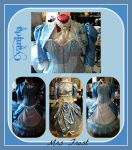 Steampunk Mrs Frost outfit collage by Cyanida