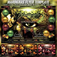 PSD Mardigras Masquerade Flyer Template by retinathemes