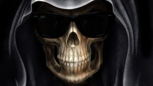 Grim Reaper with Ray Ban Wayfarer sunglasses by Paullus23