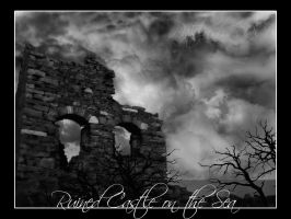 Ruined castle on the sea by patslash