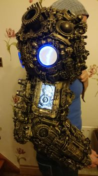 alien astronaut/ Ancient Astronaut steampunk arm by overlord-costume-art