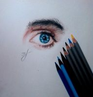 Jared Leto's eye by tomofrommars