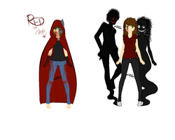 RED,The Artist and The Shadow Walker's by TheUntamedArtist