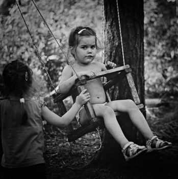 russian girl on swing by Iridescent-happinesS