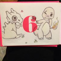 Charmander X Cubone by CrypticCharmander