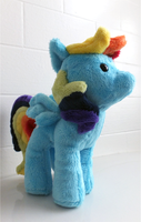 Gift - Rainbow Dash Plush by katiepox