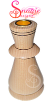 Wood Turned Candle Holder by snazzie-designz