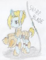 Sharp Blade (MLP FIM OC) by BrogarArts