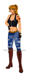 Katsumi Mutou concept art: Outfit #1 by Cre8Eva