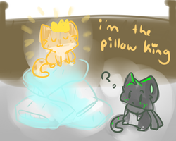 i'm the pillow king by Freckled-Kat